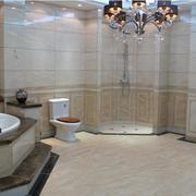 卫生间浅色系瓷砖展示