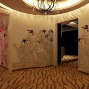 美容院墙体彩绘展示