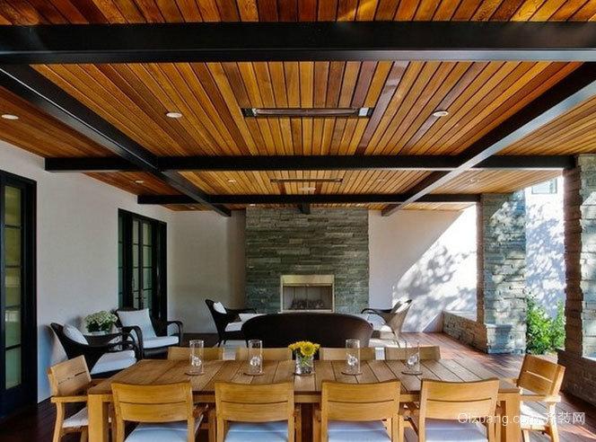 自然清新环保生态木吊顶装修效果图