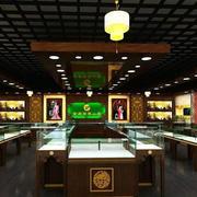 中式珠宝展柜设计效果图