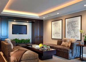 现代简约风格时尚客厅led射灯装修效果图