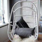 白色简约风格藤椅装修