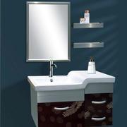 浴室不锈钢浴室柜装修镜子图