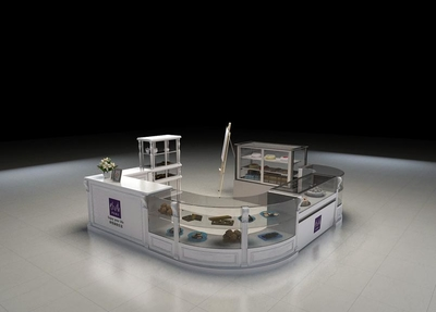 陈列各种商品的商场展柜设计效果图