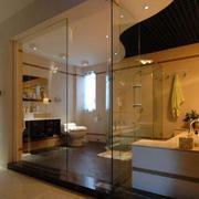 卫生间时尚玻璃门展示