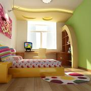 儿童房背景墙装修色调搭配