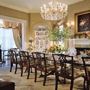 美式复古客厅柚木桌椅设计