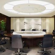 会议室圆形吊顶装饰