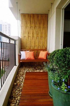 现代简约风格花园、阳台优雅藤椅装修设计图