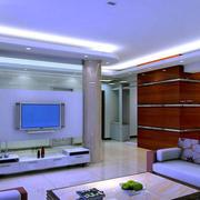 简约风格客厅电视背景墙射灯装饰