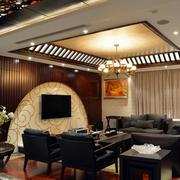 客厅吊顶设计精致图
