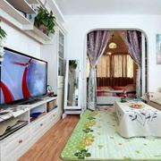 美式风格柚木电视柜设计