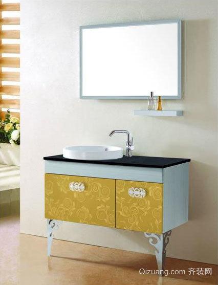 现代大户型浴室不锈钢浴室柜装修效果图