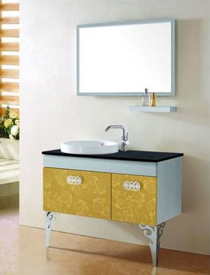 浴室不锈钢浴室柜装修效果图