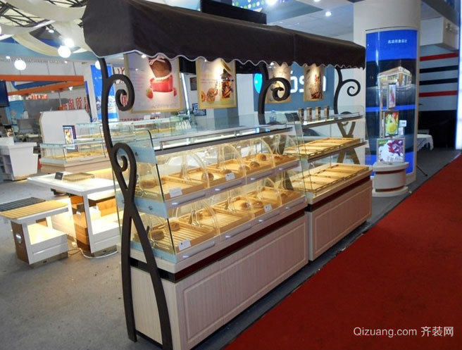 都市精装蛋糕店蛋糕展示柜设计效果图