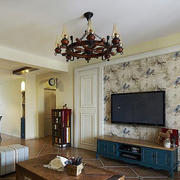 美式风格石膏板电视背景墙设计