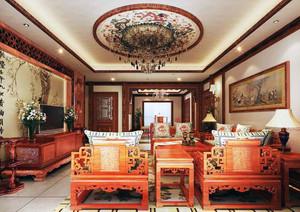年年红木家具客厅装修效果图