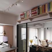 家装书房墙壁小书架