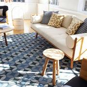 60平米简约式客厅沙发装饰