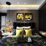 家庭卧室优雅背景墙展示
