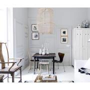 40平米白色纯美型客厅设计
