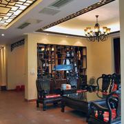 年年红木家具客厅装修整体图