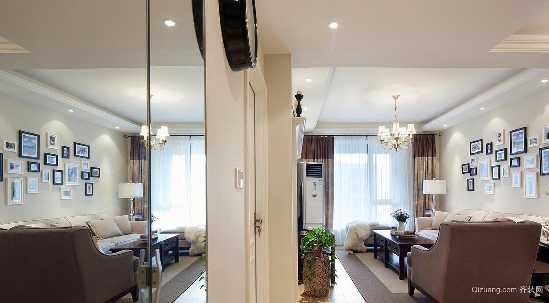 浪漫夺目:恬静小美风格小公寓家装效果图