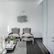 40平米白色优雅化餐厅设计
