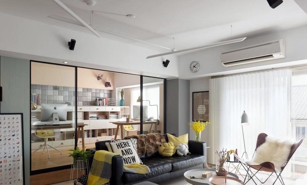 放松自我:70平一居室家庭装修效果图
