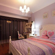 粉色儿童房卧室装饰