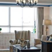 客厅水曲柳实木家具装修飘窗图