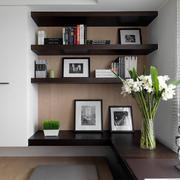 家装现代书房书架装饰