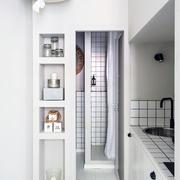 白色精美型40平米小厨房