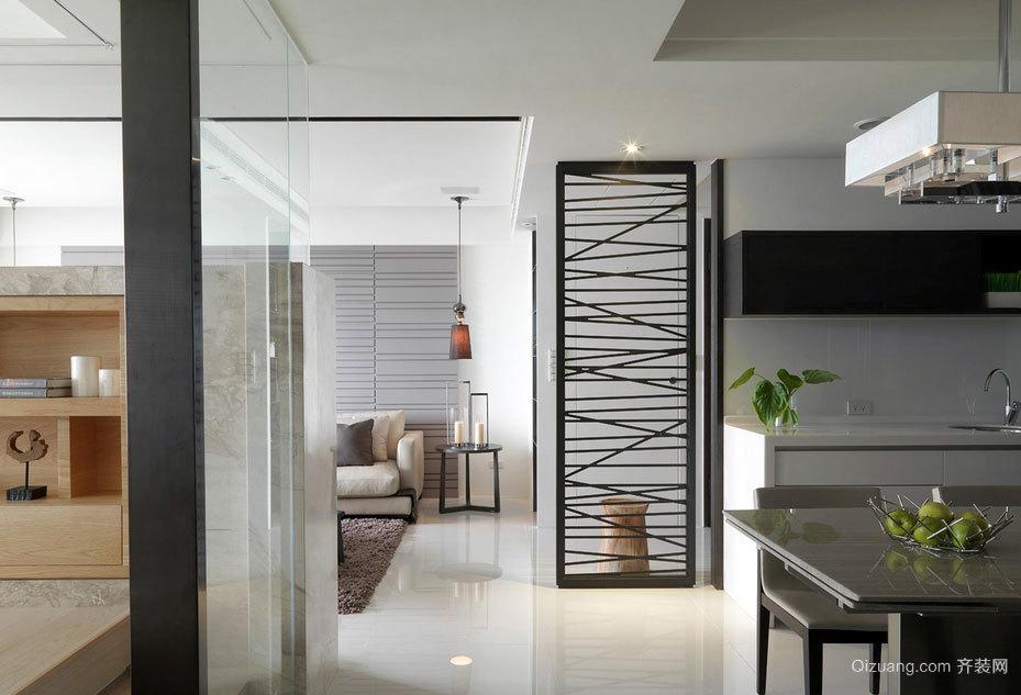 简约现代风格112平两居室家装效果图