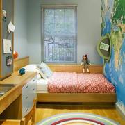 欧式儿童房地图背景墙设计