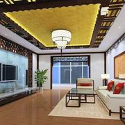中式装修客厅吊顶设计色调搭配