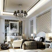 后现代风格卧室背景墙