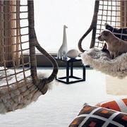 60平米简约式卧室吊椅设计