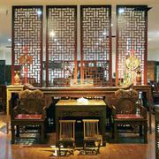年年红木家具客厅装修隔断图