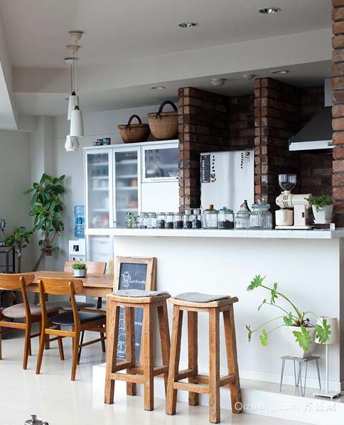 90平米咖啡原色创意房屋室内装修效果图
