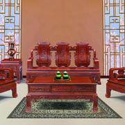 年年红木家具客厅装修色调搭配