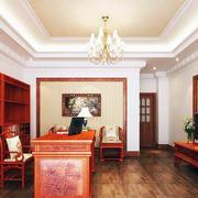 年年红木家具客厅装修吊灯图
