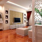 复式楼欧式客厅木地板设计