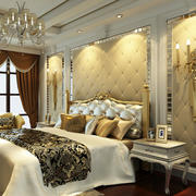 欧式奢华浅色卧室背景墙