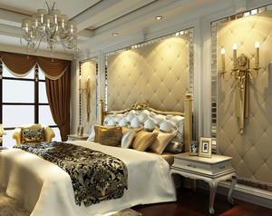 三室一厅欧式卧室软包床头背景墙设计