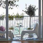 小户型独立露天式阳台设计