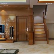 客厅水曲柳实木家具装修灯光设计