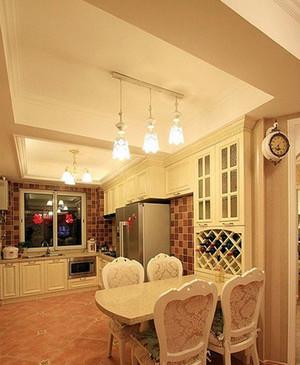 公寓田园风格韩式厨房装修效果图设计