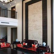 客厅水曲柳实木家具装修造型图