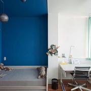 40平米客厅蓝色背景墙设计